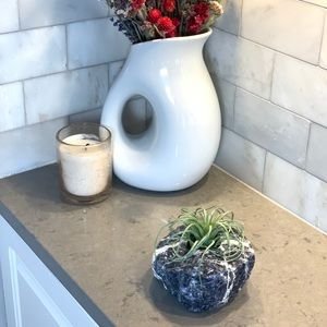 Sodalite Rough Air Plant, Succulent, Candle Holder
